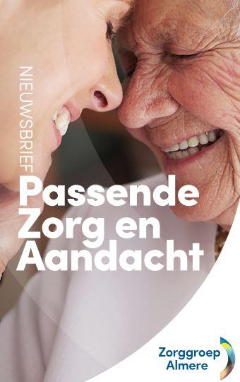Nieuwsbrief voorblad: passende zorg en aandacht - met logo