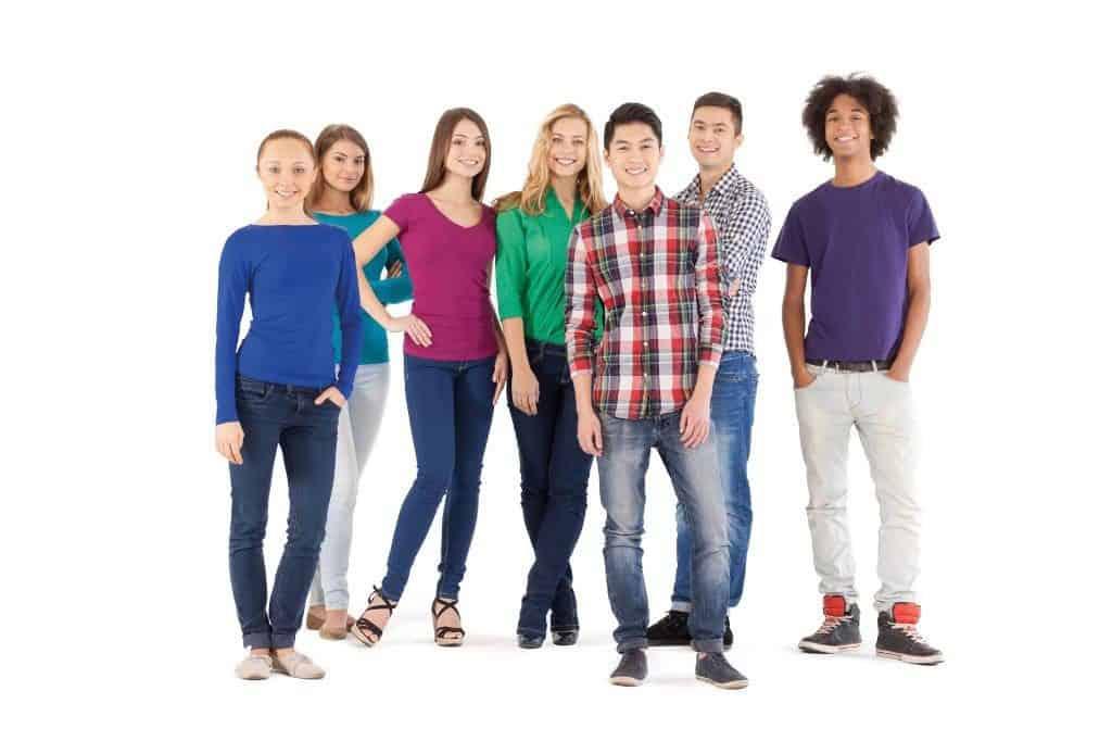 Groep jongeren